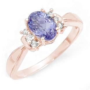 1.06 ctw Tanzanite & Diamond Ring 14k Rose Gold -