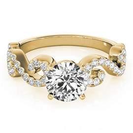 1.15 ctw Certified VS/SI Diamond Ring 14k Yellow Gold -