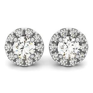 1.50 ctw Diamond VS/SI Certified Halo 14k White Gold -