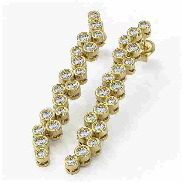 2 ctw Diamond Designer Earrings 18K Yellow Gold -