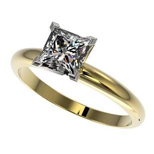 1.25 ctw Certified VS/SI Quality Princess Diamond Ring