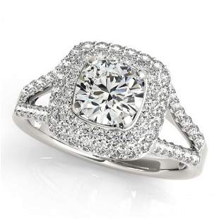 1.53 ctw Certified VS/SI Diamond Halo Ring 14k White