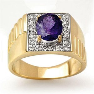 2.75 ctw Tanzanite & Diamond Ring 10k Yellow Gold -