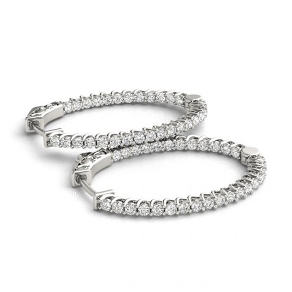 1.75 ctw Diamond VS/SI 30 MM Hoop Earrings 14k White