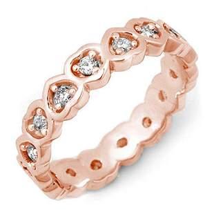 0.50 ctw Certified VS/SI Diamond Ring 10k Rose Gold -