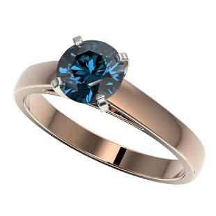 1.22 ctw Certified Intense Blue Diamond Engagment Ring