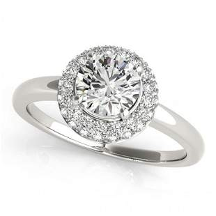 0.75 ctw Certified VS/SI Diamond Halo Ring 14k White