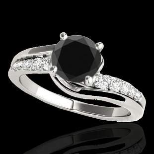 1.31 ctw Certified VS Black Diamond Bypass Solitaire