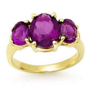 6.15 ctw Amethyst Ring 10k Yellow Gold - REF-23X6A