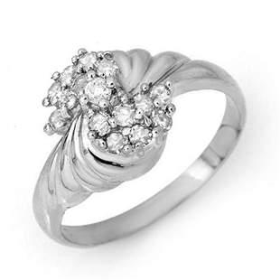 0.25 ctw Certified VS/SI Diamond Ring 14k White Gold -