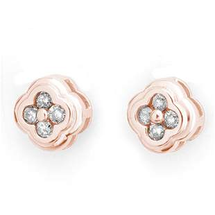 0.50 ctw Certified VS/SI Diamond Earrings 14k Rose Gold