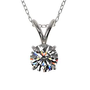 0.53 ctw Certified Quality Diamond Solitaire Necklace