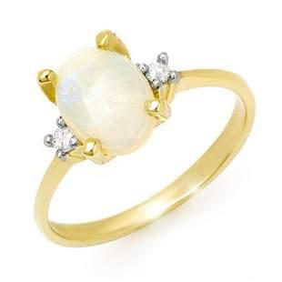 1.28 ctw Opal & Diamond Ring 10k Yellow Gold -