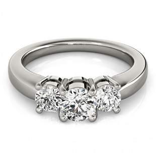 0.75 ctw VS/SI Diamond 3 Stone Ring 14k White Gold -