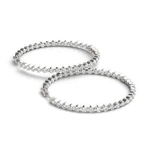 2 ctw Diamond VS/SI Certified 36 MM Hoop Earrings 14k