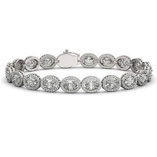 13.25 ctw Oval Cut Diamond Micro Pave Bracelet 18K