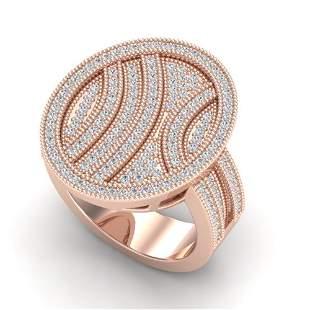 1.25 ctw Micro Pave VS/SI Diamond Ring 14k Rose Gold -