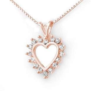 0.50 ctw Certified VS/SI Diamond Pendant 18k Rose Gold