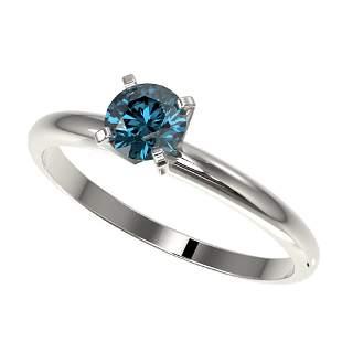 0.55 ctw Certified Intense Blue Diamond Engagment Ring