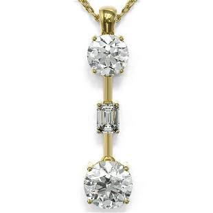 1.75 ctw Diamond Designer Necklace 18K Yellow Gold -