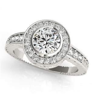 1.11 ctw Certified VS/SI Diamond Halo Ring 14k White
