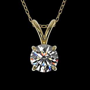 0.51 ctw Certified Quality Diamond Solitaire Necklace