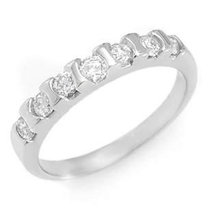 0.65 ctw Certified VS/SI Diamond Ring 14k White Gold -