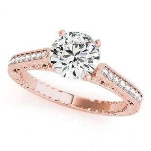 0.65 ctw Certified VS/SI Diamond Antique Ring 14k Rose