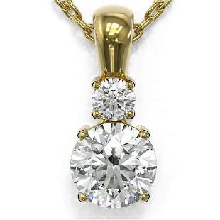 0.6 ctw Diamond Designer Necklace 18K Yellow Gold -