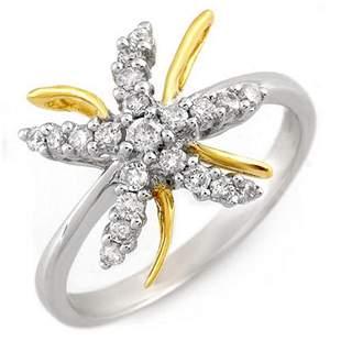 0.25 ctw Certified VS/SI Diamond Ring 10K 2-Tone 10k