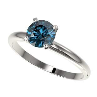 1.02 ctw Certified Intense Blue Diamond Engagment Ring