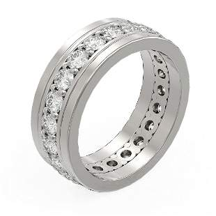 3.08 ctw Diamond Men's Ring 18K White Gold - REF-315W3H