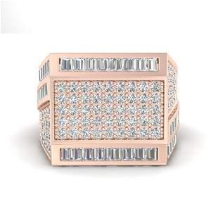 3 ctw VS/SI Diamond Men's Ring 14k Rose Gold -