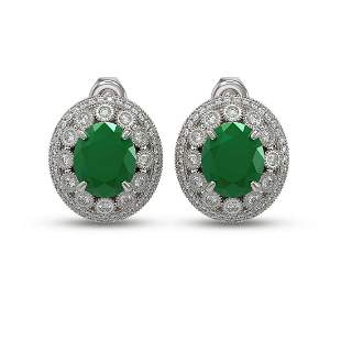 16.81 ctw Certified Emerald & Diamond Victorian