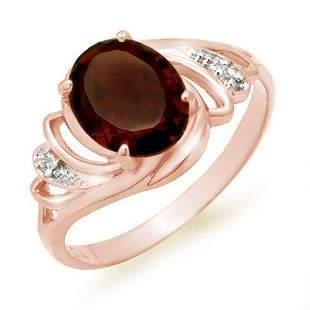 2.03 ctw Garnet & Diamond Ring 14k Rose Gold -