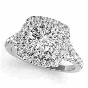 1.04 ctw Certified VS/SI Diamond Solitaire Halo Ring