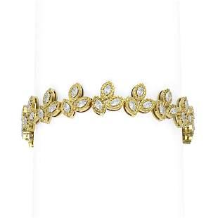 7.14 ctw Diamond Bracelet 18K Yellow Gold - REF-879M3G