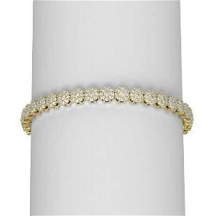 8 ctw Diamond Bracelet 18K Yellow Gold - REF-457A8N