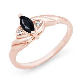 0.26 ctw Blue Sapphire & Diamond Ring 14k Rose Gold -
