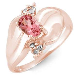 0.54 ctw Pink Tourmaline & Diamond Ring 10k Rose Gold -