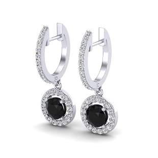 1.75 ctw Micro Pave VS/SI Diamond Certified Earrings