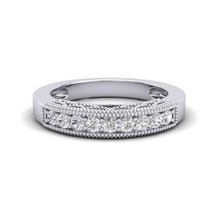 0.33 ctw VS/SI Diamond Art Deco Ring 18k White Gold -