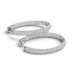 2.75 ctw Diamond VS/SI 38 MM Hoop Earrings 14k White