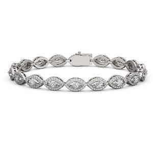 6.91 ctw Marquise Cut Diamond Micro Pave Bracelet 18K