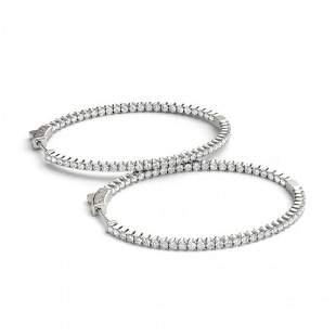 2.75 ctw Diamond VS/SI 28 MM Hoop Earrings 14k White