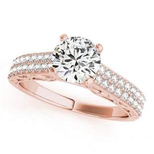 1.41 ctw Certified VS/SI Diamond Antique Ring 14k Rose