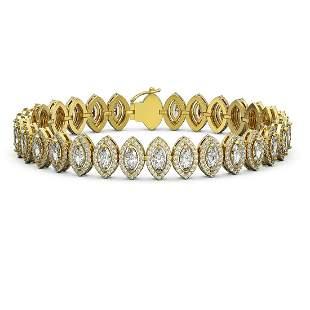 11.13 ctw Marquise Cut Diamond Micro Pave Bracelet 18K