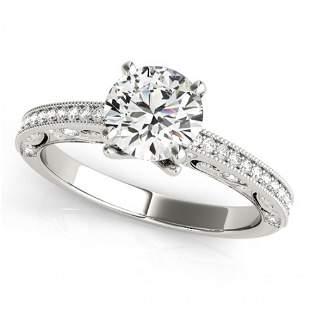 1.25 ctw Certified VS/SI Diamond Antique Ring 14k White