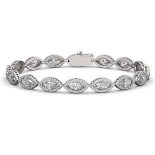 10.61 ctw Marquise Cut Diamond Micro Pave Bracelet 18K