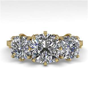 2 ctw Solitaire VS/SI Cushion Diamond Vintage Ring 14k